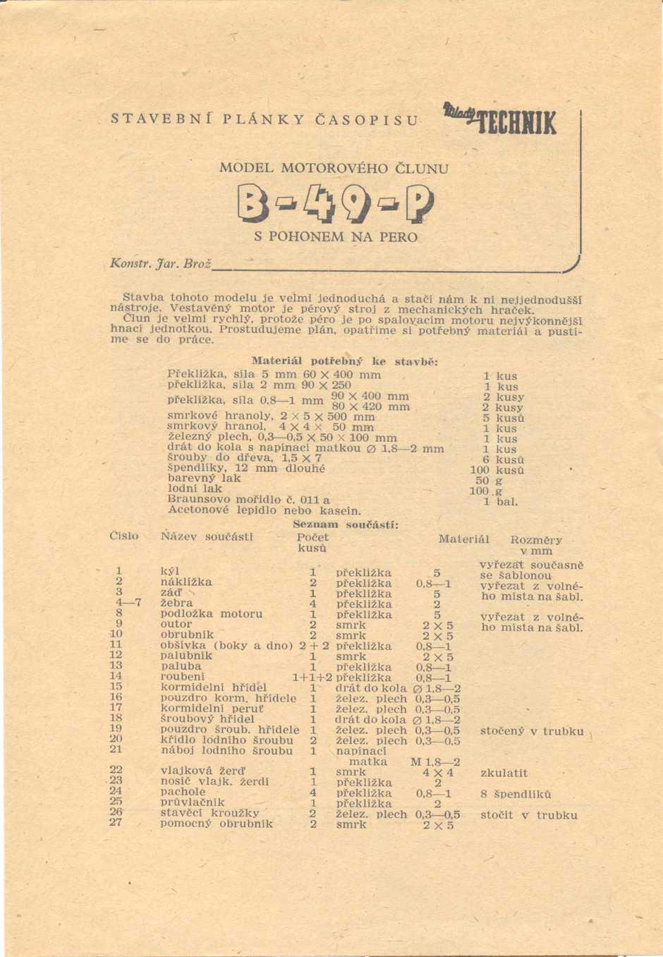 B-49-P text kusovník