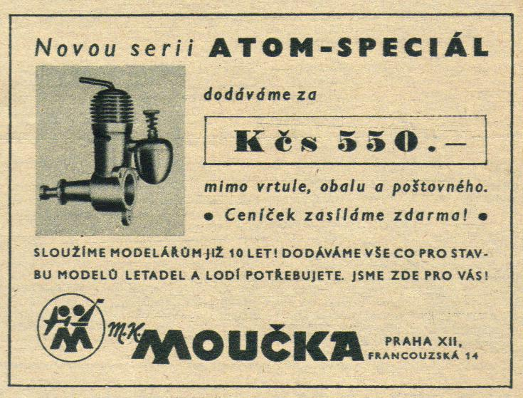 Foto č. 6 - SUPER ATOM - další inzerát - ROZLET,ročník III. , č.10., 5. března 1947