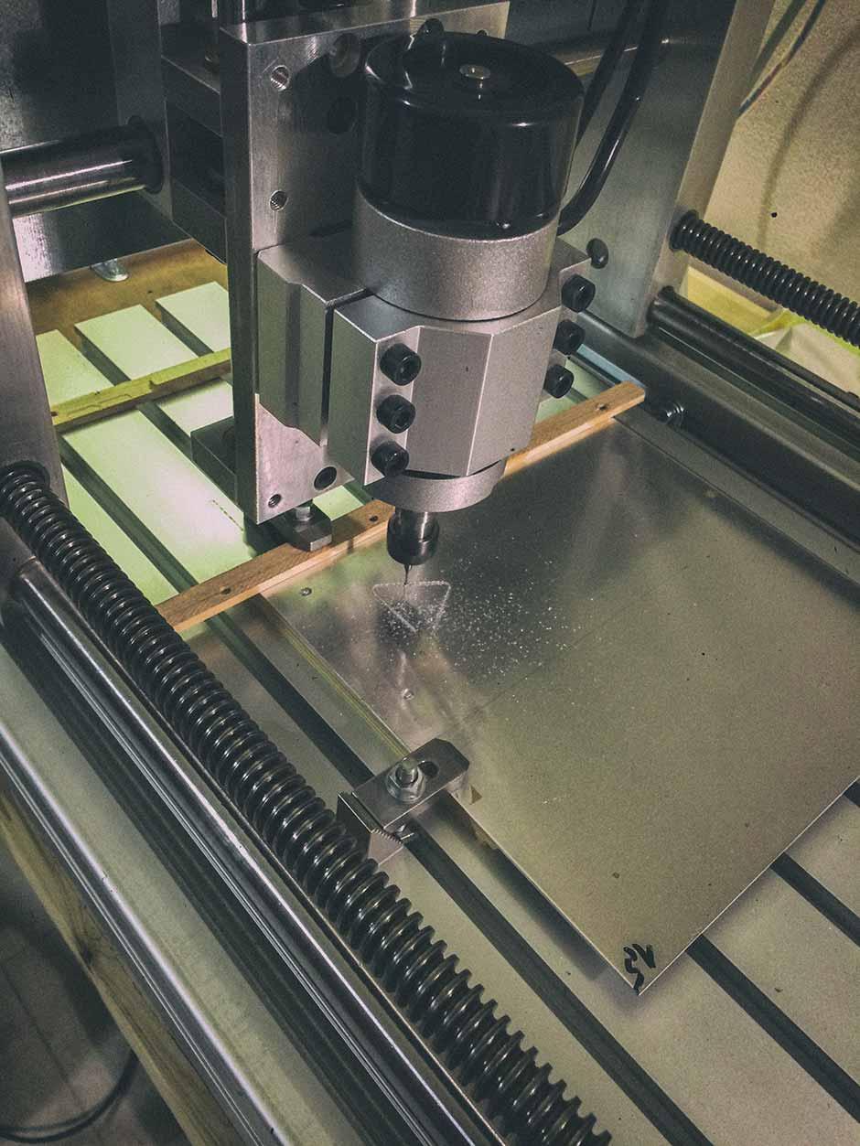 Engine mount milling.